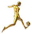 Golden football player