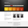 Website design template.