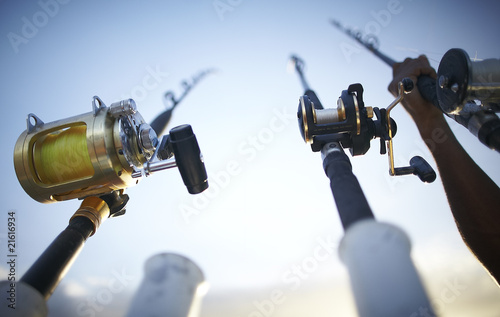 fishing rods early in the morning