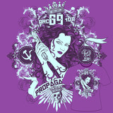T-Shirt Print Mädchen Propaganda poster