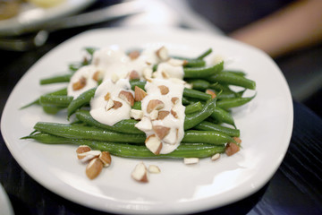 french green bean salad with almonds