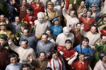 Effiigies de Mao au marché aux antiquités de Shanghai - China