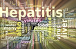 Hepatitis word cloud glowing
