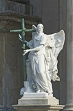 angel marble sculpture with the cross, Vienna