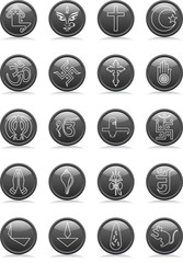 Religion Icon Set various