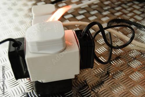 Leinwandbild Motiv electrical fire 2