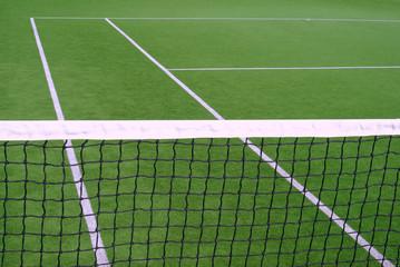 A tennis net