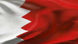 Creased Bahrain flag in wind in slow motion poster