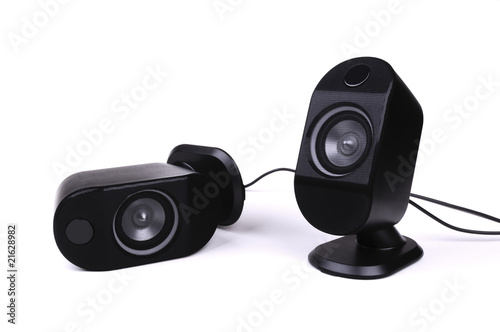 Two black speakers