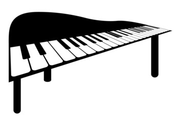 Illustration of a piano on white background