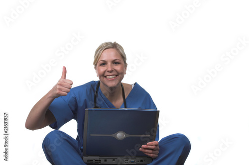 Nurse with laptop