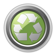 """3D Style Button """"Recycling"""""""