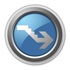 "3D Style Button ""Downstairs"""