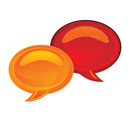 chat bubbles icon - vector illustration