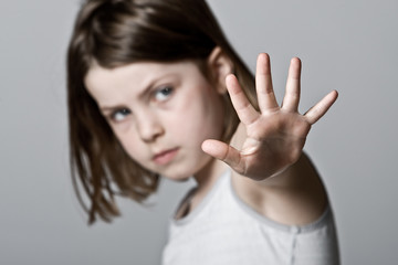 Child with her Hand Up