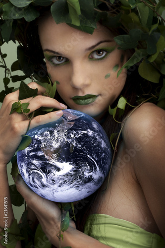 Mother nature protecting the earth