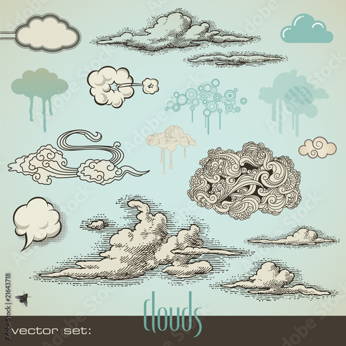 vector set: clouds - 21643718