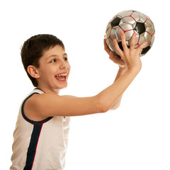 Boy throwing a ball