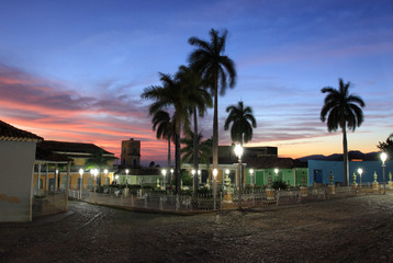 main square in trinidad, cuba