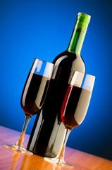 Wine glasses against background