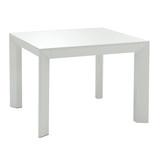 white minimal table poster