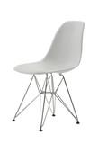 white minimal chair poster