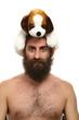 homme nu avec chapeau