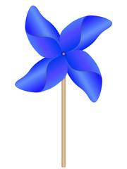 Eolienne bleue