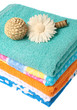 Stack of fresh colorful towels
