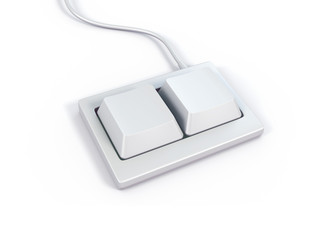 White mini keyboard isolated 3d model