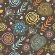 Stylish spring floral seamless pattern