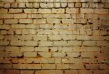 Brick wall in acid tones poster
