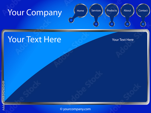 Blue Web Template