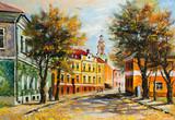 Fototapety Ancient Vitebsk in the autumn