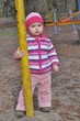baby with swing