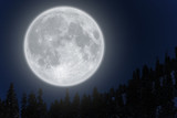 Fototapety Full moon over mountain