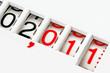 Leinwandbild Motiv meter reading 2011