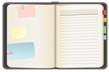 Empty notebook, vector illustration, EPS10 poster