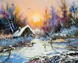 Fototapety Rural winter landscape