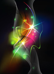 Abstract Vector Background - Colorful Transparent Lights
