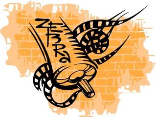 Graffiti - Zebra and Spray ballon .