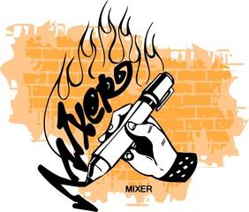 Graffiti - Hand end Marker.
