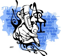 Graffiti - Hand end Marker.