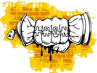 Graffiti - Fist end Spray ballon.
