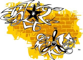 Graffiti -Sky end Star.