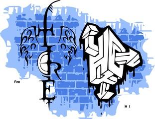 Graffiti -Tire end Wings.