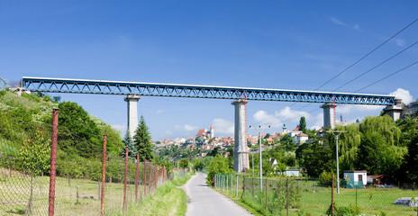 Znojmo with railway viaduct, Czech Republic