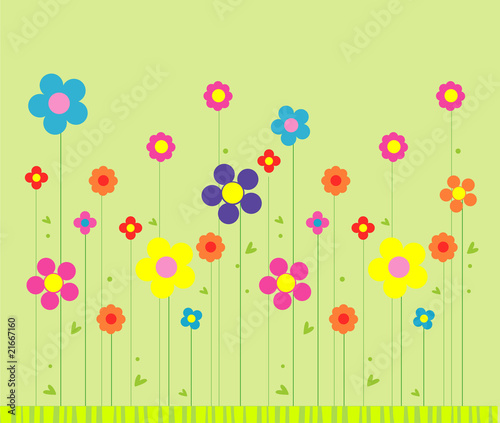 Stylish flower background