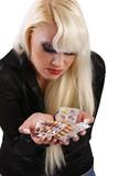 pharmaceutical pills (white background) poster