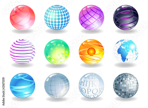 Spheres of different style,